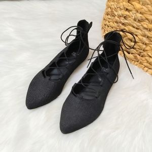 Eileen Fisher Shoes - Eileen Fisher lace up black ballet flats